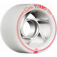 Rollerbones Turbo Wheel Clear Aluminum Hub 62mm 88a Right 4pk White