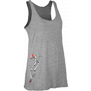 Rollerbones Woman's Derby Tank Top Grey