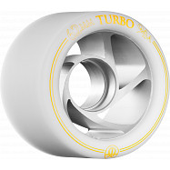 Rollerbones Turbo Wheel Clear Aluminum Hub 62mm 94a Left 4pk White