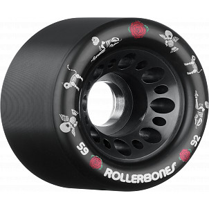 Rollerbones Pet Day of the Dead Speed wheel 59mm x 92a Black 4 Pk