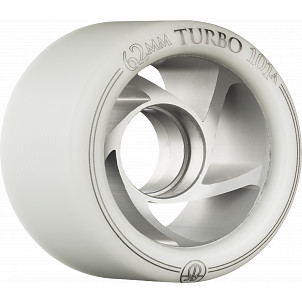 Rollerbones Turbo Wheel Clear Aluminum Hub 62mm 101a Left 4pk White