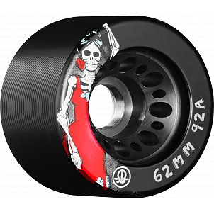 Rollerbones Day of the Dead Speed wheel 62mm x 92aBlack 4 Pk