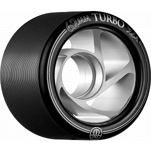 Rollerbones Turbo Wheel Clear Aluminum Hub 62mm 92a Left 4pk Black