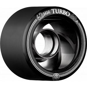 Rollerbones Turbo Wheel Black Aluminum Hub 62mm 88a 4pk Black