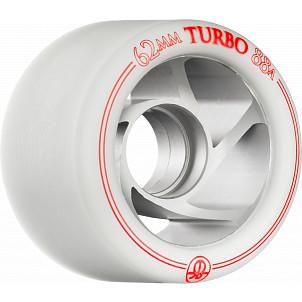 Rollerbones Turbo Wheel Clear Aluminum Hub 62mm 88a Left 4pk White