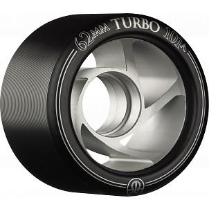 Rollerbones Turbo Wheel Clear Aluminum Hub 62mm 101a Left 4pk Black