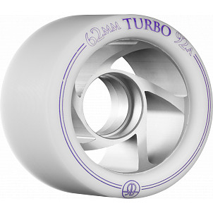 Rollerbones Turbo Wheel Clear Aluminum Hub 62mm 92a Right 4pk White