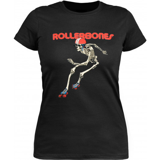 Rollerbones Woman's Derby T-shirt Black