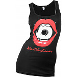 Rollerbones Woman's Bite Size Tank Top Black