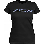 Rollerbones Woman's Neon T-shirt Black