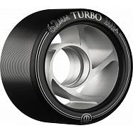 Rollerbones Turbo Wheel Clear Aluminum Hub 62mm 101a 8pk Black
