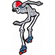 Rollerbones Derby Skeleton Lapel Pin