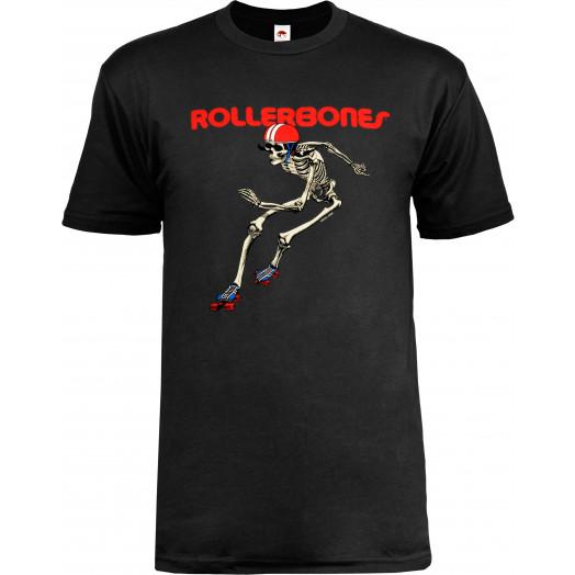 Rollerbones Men's Derby T-shirt Black